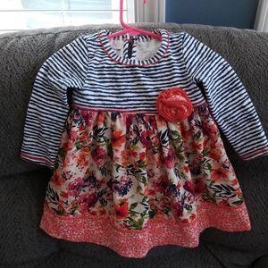 Floral/ striped dress